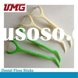 Dental floss sticks floss picks in different colors