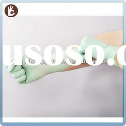 Disposable latex examination gloves green type