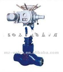 Electric Stainless steel High temperature and high pressure power station globe valve