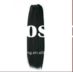 Factory Wholesale 12-28inch Black Human Hair Weft/Extension
