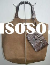 Fake Suede with Fur Lady Tote Bag Hobo Bag 2763