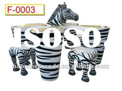 Fantastic children park equipment, fiber glass animal table and chair, zebra table and chair 1