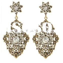 Fashion Earrings 2012/2013 Full/Winter Collection Antique gold/silver Austrian Crystals