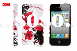 Fashion Flower Rubber Back Case Cover Skin for Apple iPhone 4 4G