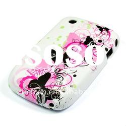 Flower Tpu Back Case For Blackberry 8520 Curve Colorful