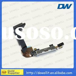 For iPhone 4 Data Dock Connector Charger Port With Flex Cable White&Black