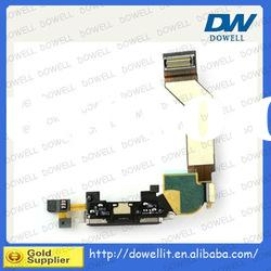 For iPhone 4s Data Dock Connector Charger Port With Flex Cable White&Black