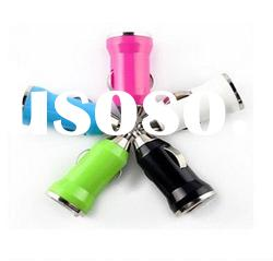 For iPhone Colourful Universal USB Mini Car Charger Adapter