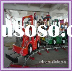 Fun fair kiddie train playground rides trackless train for children