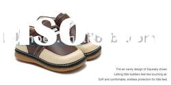 Gentleman brown color boy style baby squeaky shoes SQ-B10403BR
