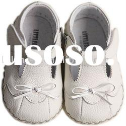 Genuine leather Soft Sole Baby footwear for Christmas Day LBL-BB4001WH
