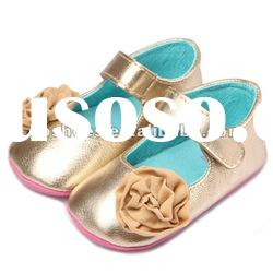 Gold Leather Soft Sole Mothercare baby shoes