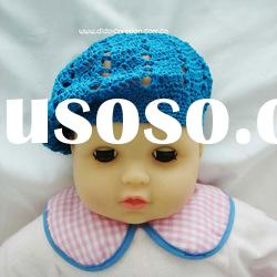 H05C006A Hand fashion Crochet Baby kufi Hats cap Beanie flower animal new born baby gifts