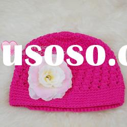 H05C020A Hand fashion Crochet Baby kufi Hats Beanie flower animalCotton Hat Beanie Cap