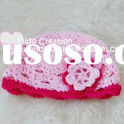 H05C029A Handmade fashion Crochet Baby's knitted Hats Cotton Hat Beanie Cap