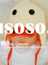 H05C052A Hand fashion Crochet Baby kufi Hats cap Beanie flower animal new born baby gifts