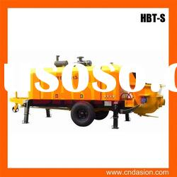 HBT-S-valve series Trailer Concrete Pump with faultless service for sale in stock