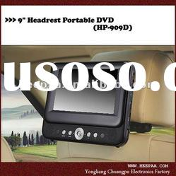 HEPA: 9 inch headrest dvd player with built in batteries, bracket
