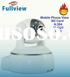 H.264 Indoor Pan Tilt wireless wide angle ip camera with IR-Cut