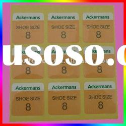 High Quality Self Adhesive Sticker Label For Shoes