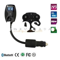 Hot sale high quality bluetooth LED car kit with fm transmitter
