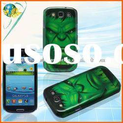 Hulk Skull Cover For Samsung Galaxy S3 i9300 New Fashion Waterproof Glossy Mobile Phone Design Cover