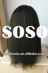 Inidan remy hair kinky full lace wig, human hair wigs for black women
