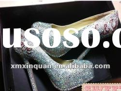 JSS060 latest high heel beautiful women platforms dress shoes with crystal
