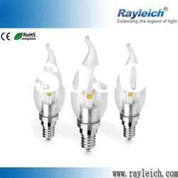 LED chandeleirs dimmable 5w e27 led light bulbs in torpedoed shape