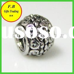 Large Hole Round Metal Jewelry Accessories Beads (FB-P0230)