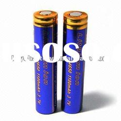 Lithium-ion Battery 14650 with 1100mAh 3.7V, rechargeable li-ion batteries