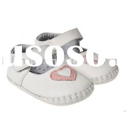 Lovely Heart Style Genuine Leather Soft Soled Baby Shoes LBL-BB11003WH