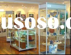 Luxury Fully Visible Glass Jewelry Showcases Display Stand