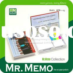 Memo holder with notepad for promotion