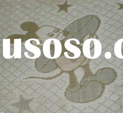Micky mouse pattern of woven jacquard paper fabric