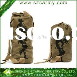 Military outdoor barrel bags/Canvas shoulder backpack/City luggage