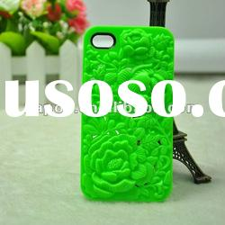 Napov PC 3d flower crystal cover case for iphone 4 4s iphone4