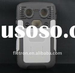 New Design Two Layers Silicone+Hard Plastic Skin Back Case For Blackberry Bold 9700/9020(Gray)