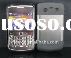 New design ! Gray Metal Aluminum Surface+Silicone Shiny Back Case For Blackberry Bold 9700/9020