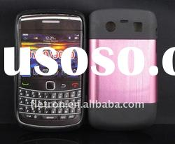 New design !Metal Aluminum Surface+Silicone Shiny Back Case For Blackberry Bold 9700/9020