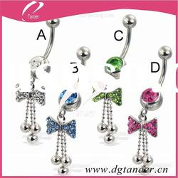 New design body piercing jewelry navel rings diamond