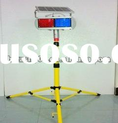 New powered LED solar traffic warning lights with stand