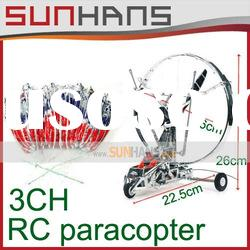 Newest!! RC plane 3-Channel Radio Control Paracopter r/c paraplane / helicopter 655