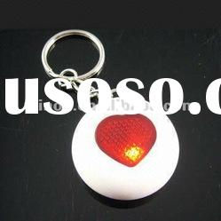 Newest heart shaped plastic whistle sound key finder with red flashing
