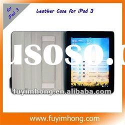 Newest style water cube style leather protect cover case for ipad 3