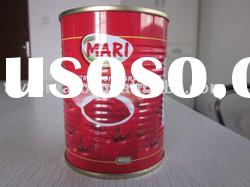 OEM brand canned tomato paste canned tomato sauce 198g brix 28-30%