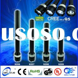 Outdoor Lighting Aluminum CREE led zoom flashlight torch CS-9208