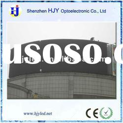 Outdoot top building mounted P16 advertising curved led display