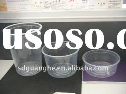 PP disposable plastic food cups with lid
