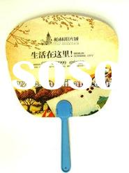 PP hand fan,plastic hand fan,promotion hand fan
